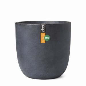 Donica Egg planter gładka 35x34 - antracyt
